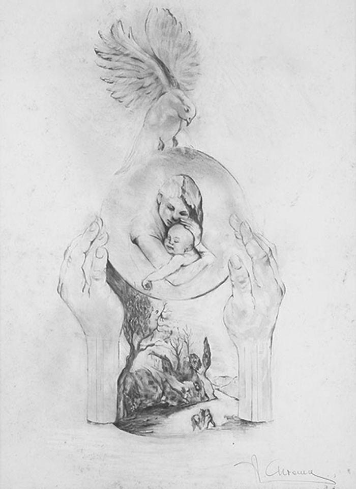 安娜·高美雕塑艺术展:素描作品一览