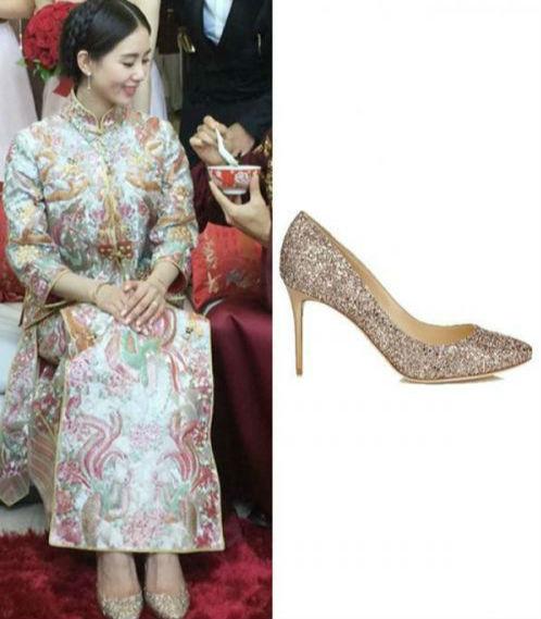 生活方式  身穿唯美的婚纱裙的刘诗诗,如花仙子一般,脚上的jimmy choo图片