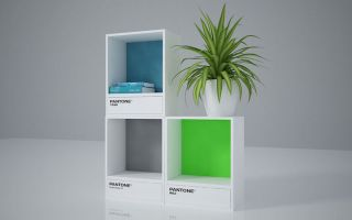 用你最爱的颜色做书架:Pantone 色票书架的缤纷艺术