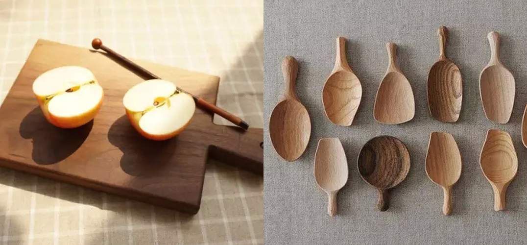 一直对木器情有独钟,觉得是种富有生命力的材料。 如果将木器比作一个人,他便是寡言的、真挚的。 爱木,就是爱着这些品质。 无论是原生的木纹、雕花的窗棂,还是微皲的廊柱、温润的木勺,一件件木器,都是时光雕琢的作品,沉静又温柔。  一些常见的木头 木器会因为材质不同而呈现出不同的纹理和手感。抚摸它时,触手的温润,任何材质都无法替代。 每一个爱木之人,都可以轻易分辨出黑胡桃、紫檀木、金丝楠、花梨木……它们需要足够长的时间,才能长得这般千差万别。 樱桃木是很常见的,心材从深红色至淡红棕色