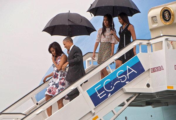 """古巴国宴上 """"花枝招展""""的米歇尔·奥巴马"""