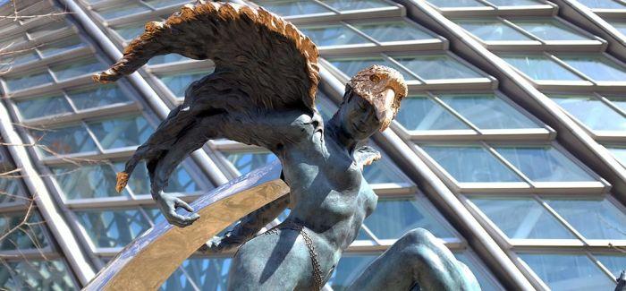 翔鸟-磨光铜-14×33×70cm-2003年3