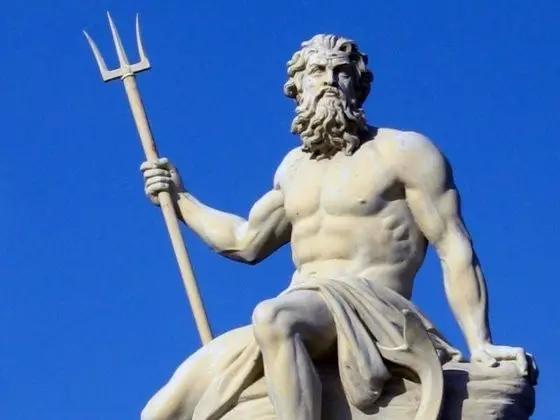 希腊神话海神波塞冬雕塑