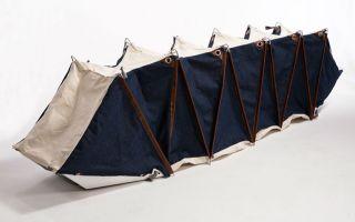 只要一个步骤  背包变帐篷