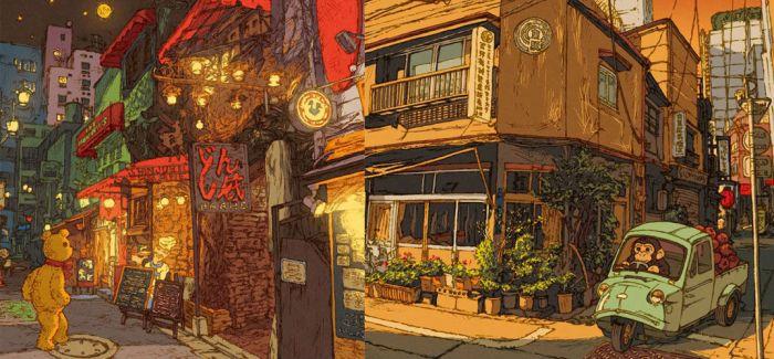 Shinji Tsuchimochi:100张东京街景速写