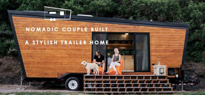一起过着游牧般的自在生活:好想住进这间情侣亲手打造的现代感流动小屋