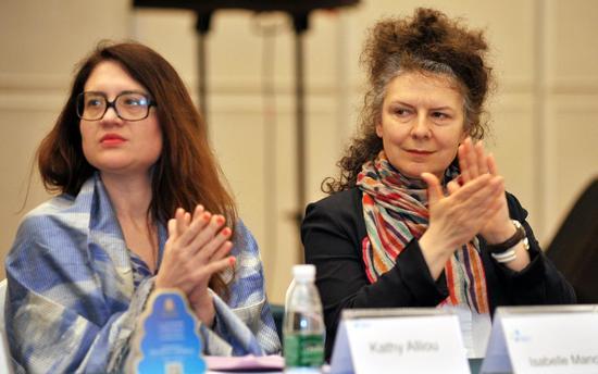 外国艺术家在学术论坛上