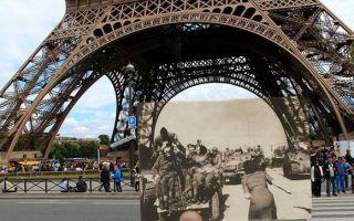 巴黎女孩把老照片拿到日光下 让你看看什么叫物是人非