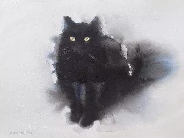 对动物动态,神态的把握,使他的作品非常耐看,打动人心.