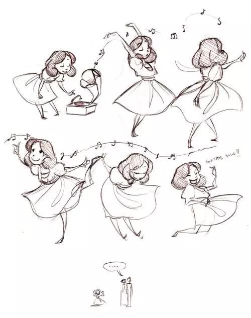 致敬经典:迪士尼经典铅笔手稿