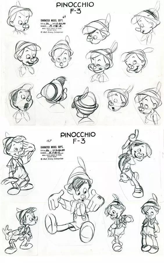 批动漫手稿,大部分都是迪士尼的.