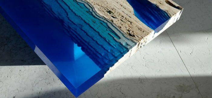 这么蓝 那么美  堪称艺术品的湖泊茶桌