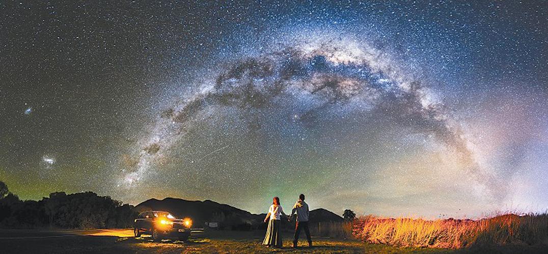 晚上天空星星简笔画