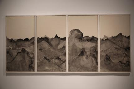 《遗忘之海20》 75×145cm×4纸本水墨 2014