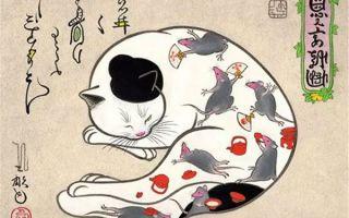 艺术家Horitomo:一只混黑道的猫