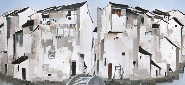 吴冠中《周庄》打破现当代油画拍卖纪录 艺术家前十拍卖作品