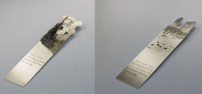 最奢侈的读书伴侣  设计师Silverleaf的银质唯美书签