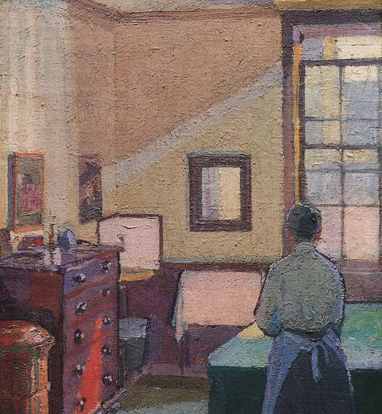 "哈罗德·吉尔曼(1876-1919)作品""Interior (Mrs. Mounter)""(1917)"