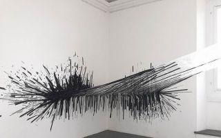 你见过用胶带做成的大型装置艺术品吗?