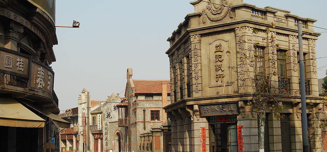 """""""""""我们去了天津,发现那里的'法租界'建筑还在,很多西式"""