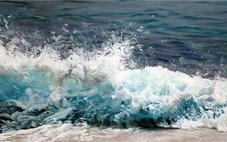 纽约艺术家用手指画出冰 海画卷
