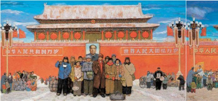 孙滋溪与他的名作《天安门前》