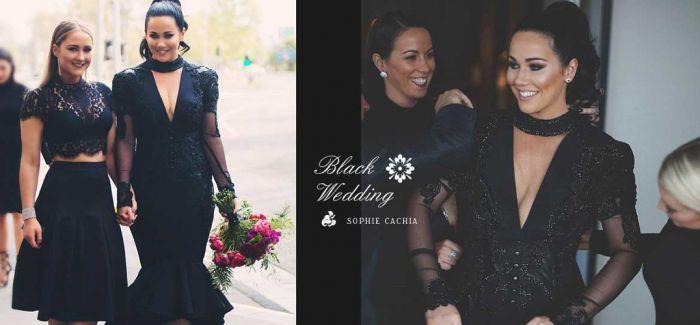 谁说婚纱只能是白色 澳洲新娘用「黑色」打破传统