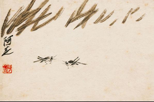 """在创作""""芭蕉叶卷抱秋花""""时,他因记不清新生的芭蕉叶是向左还是向右卷"""