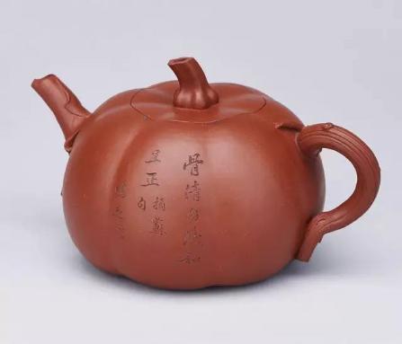清康熙  陈鸣远制南瓜壶  宽 17.8 cm