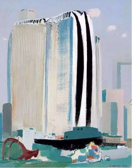吴冠中 新巴黎  布面 油画  1989年作  91 × 73 cm