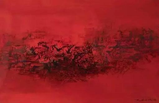 赵无极 5.12.61  布面 油画  1961年作  60 × 91.5 cm
