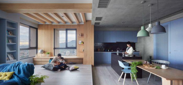 一间专为围绕孩子与厨房而设的时尚住宅