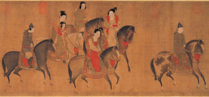 虢国夫人游春图表达了盛唐乐观的时代特征