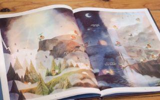 插画师Amélie Fléchais 的儿童绘本《The Mountain Man》
