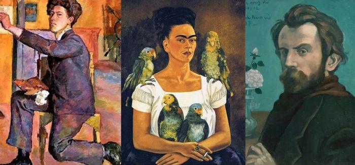 马蒂斯 弗里达 雷诺阿等大师的自画像 最后一位纯属瞎画呢