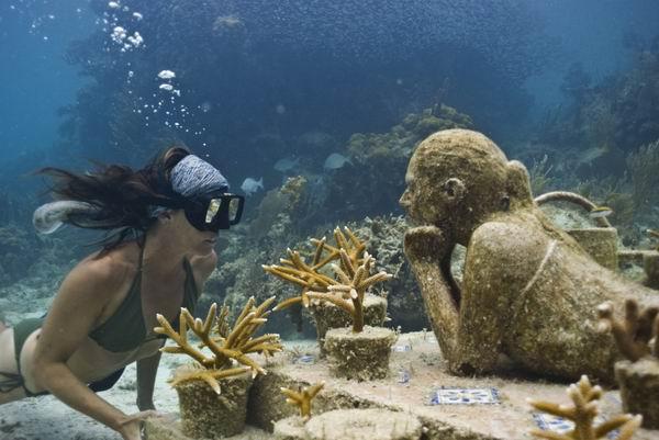花样姐姐没去的坎昆水下雕塑博物馆才是当地最佳景点