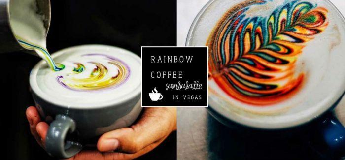 来自美国的「彩虹」拉花 Latte