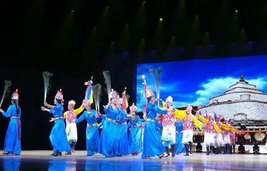 """青海玉树古藏族原生态歌舞""""梦回雪域""""在京上演"""