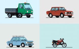 设计师Nickola Nickolov创作的苏联经典汽车动图
