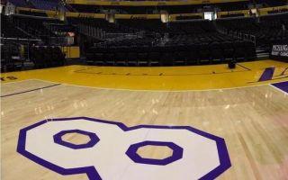 科比谢幕战地板将被拍卖 起拍价达到1万美元