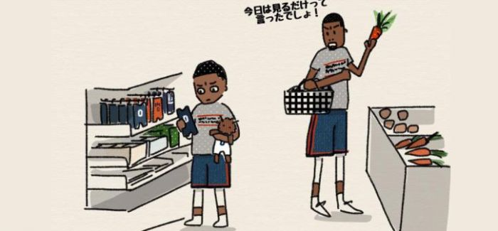 活久见!雷霆双少成了母女 一位日本家庭主妇画笔下的NBA