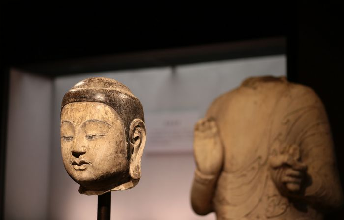 幽居寺北齐佛像已身首合璧 30日举行首展