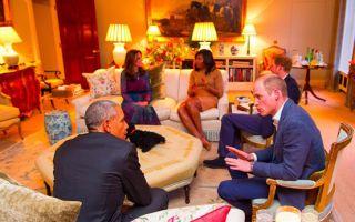 威廉王子接待奥巴马险出错 客厅油画现侮辱字眼