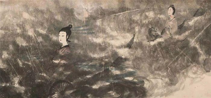 傅抱石作品拍出2.3亿 大陆神秘买家电话竞拍