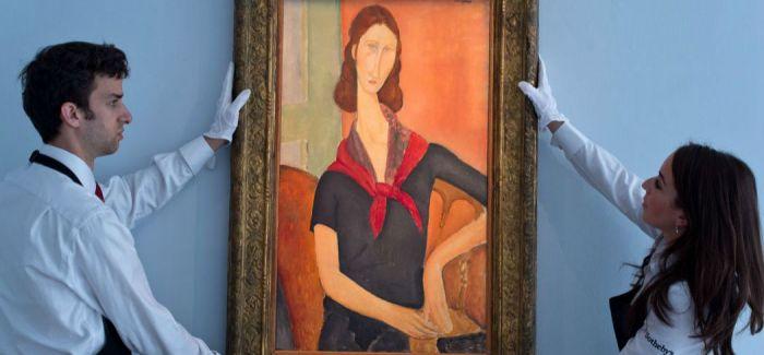 莫迪里安尼《戴围巾的珍妮‧埃布特尼》将于6月21日在伦敦苏富比拍卖