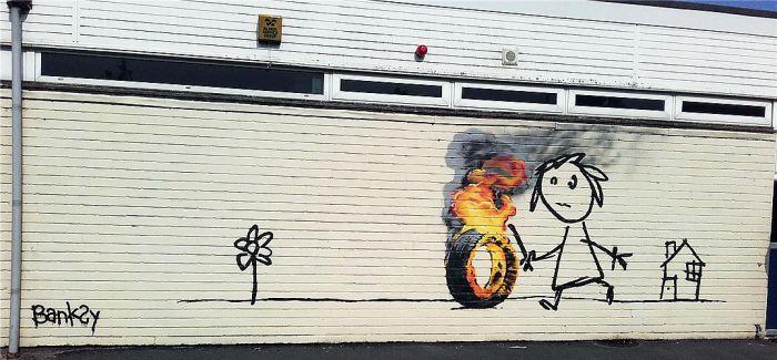 班斯克涂鸦秘密现身 为布里斯托小学生送惊喜