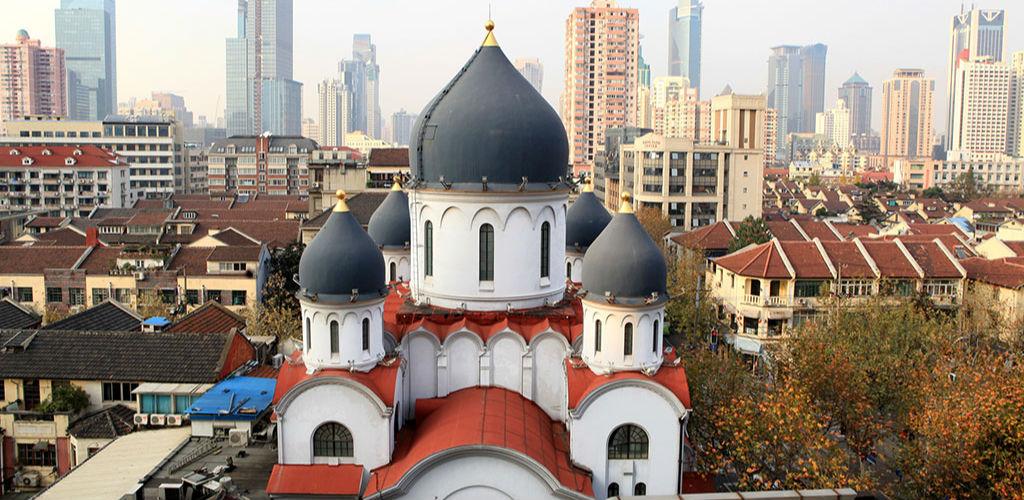 """上海""""圣母大堂""""涂料层下发现9幅珍贵壁画 已尘封数十年"""