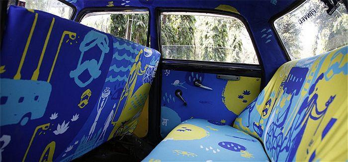 印度有一群在地艺术家 把出租车变成了流动的艺展
