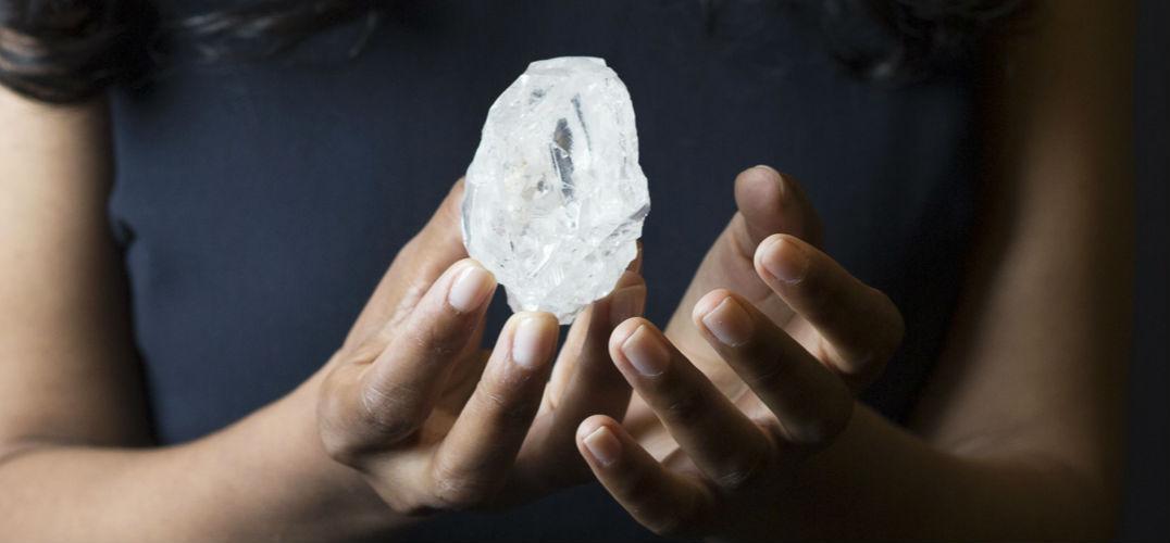 史上第二大钻石原石将拍卖 1109克拉如网球大小