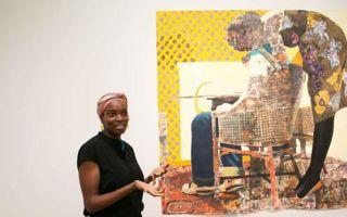 Njideka Akunyili Crosby获得2016康颂纸上艺术奖